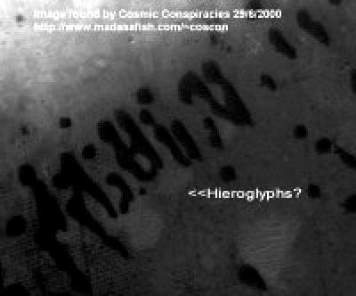 Marte lo que parecen ser jeroglificos