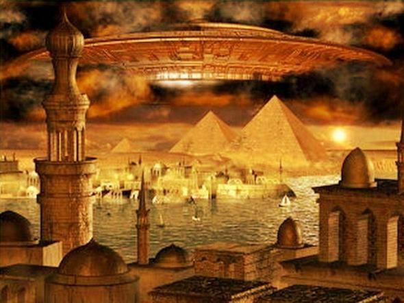 UFO-over-pyramids