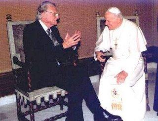 Billy Graham con el Papa