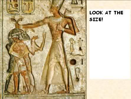 Murales egipcios muestran gigantes