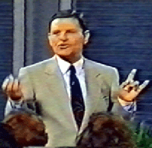 Kenneth COpeland satan sign
