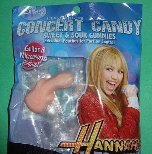 A Cryus microphone candy