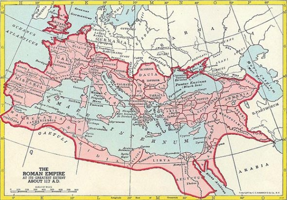 Roman Empire at greatest extent