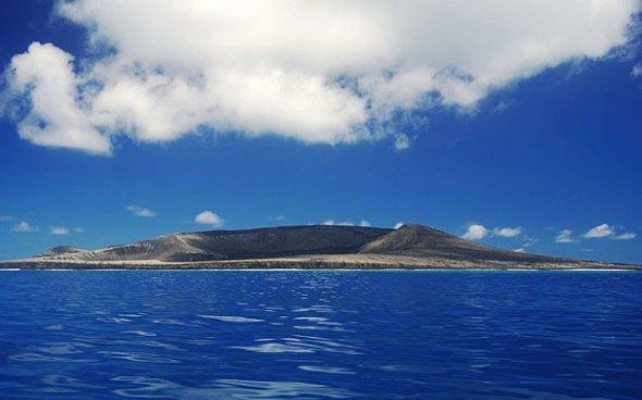Nueva isla volcánica en el área de Tonga pacífico sur