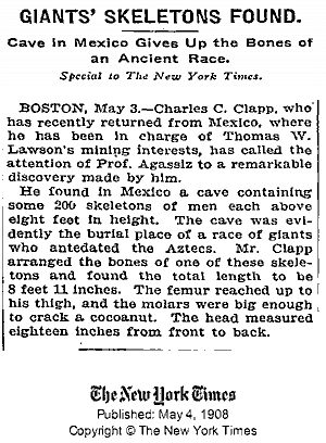 May 4 1909 Mexico Giants almost 9 feet tall